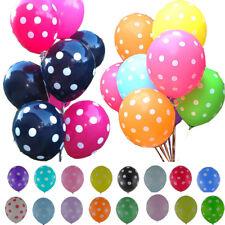 "10pcs 12"" Polka Dot Latex Helium Spotty Balloons Quality Party Birthday Wedding"