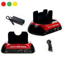 "DOCKING STATION ALL IN 1 HARD DISK SATA IDE 3,5"" 2,5 LETTORE HDD BOX CASE"