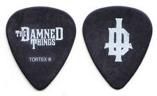 The Damned Things Black Guitar Pick - 2011 Tour Fall Out Boy Anthrax
