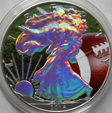 2014 1oz American Silver Eagle Coin Colorized Football Eagle Holographic
