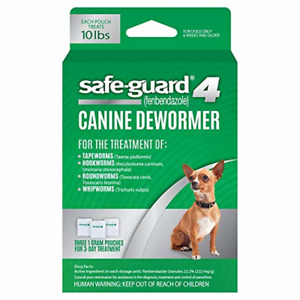 8 in 1 Safe-Guard Canine Dewormer for Small Dogs, 3-Day Treatment