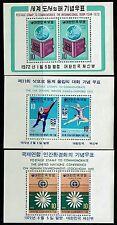 Korea SC# 808a, 811a and 825a, Mint Never Hinged -  Lot 031917