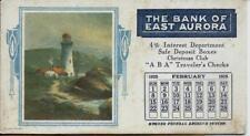 1925 Bank of East Aurora NY Advertising Blotter