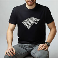 Game Of Thrones TV Series Tee Unisex Short Sleeve T-Shirt Wolf Printed Tee Shirt