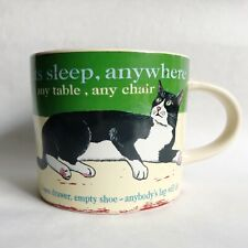 Wiscombe Retro Tuxedo Cat Graphic Ceramic Coffee Cup Mug Cats Sleep Anywhere