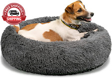 New listing Calming Dog Bed for Small Dogs – Cozy Faux Fur anti Anxiety Dog Cuddler Bed