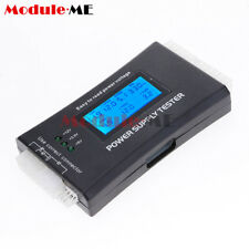 Power Supply Tester 20 24 Pin Sata LCD PSU HD ATX BTX Voltage Test Source UK