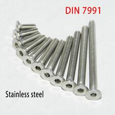 M4 304 Stainless Steel Allen Hex Socket Countersunk Flat Head Screw Bolt DIN7991
