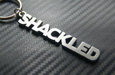 SHACKLED Chained Handcuffed Keyring Keychain Key Bespoke Stainless Steel Gift