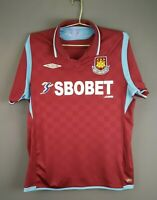 4.4/5 West Ham United jersey M 2009 2010 home shirt soccer football Umbro ig93