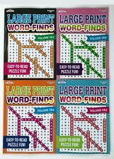 Lot of 4 Large Print Giant Word Search Books Word Find~Word Hunt~Puzzle New