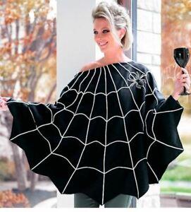 Grandin Road - Halloween Spider Web Poncho