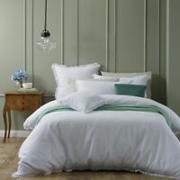 Bianca Amalfi Quilt Cover Set White in All Sizes