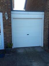 Manual roller shutter door white (single skin) Garage Door Steel Includes Lock