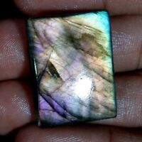 Purple Fire Spectrolite Labradorite Cushion Cabochon Multi Flash Gemstone JGems