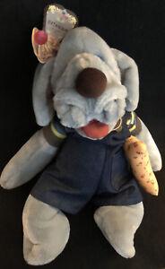 "Vintage Wrinkles Pupple Pet 1981 Hand Puppet Plush GANZ Dog 17"" Complete w/ Tags"