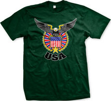 USA Eagle Crest - American Pride US Flag Red White and Blue Mens T-shirt