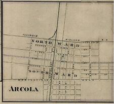 Arcola Illinois Douglas County IL 1876  Map Genealogy