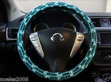 Hand Made Steering Wheel Covers Blue Puppy Dog Bones Woof Ruff