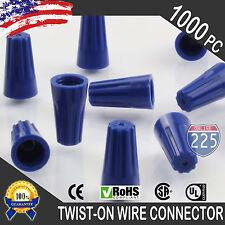1000 Blue Twist-On Wire GARD Connector Conical nuts 22-14 Gauge Barrel Screw US