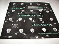BRAHMS SYMPHONY NO 2 IN D OP 73 ARTURO TOSCANINI LP EX RCA Victor LM1731 1955