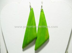Wholesale of 12 pairs Wood earrings # 438 long