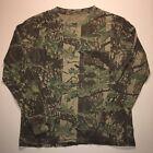 Vintage 90s Camo Camouflage SUN FADED Long Sleeve Pocket TShirt Sz Adult M L