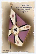 WW1 . DRAPEAU. FLAG. 1er Trophée Pris aux ALLEMANDS par le 1er Chasseurs .1914
