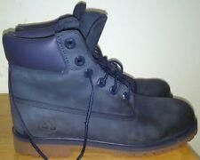 "Timberland Junior 6"" Premium Waterproof Boots 3793A Blue Nubuck. Size 7"