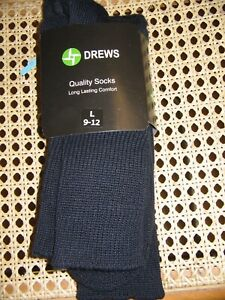 Drews Work Sock Navy Adults Size 9-12 *CLEARANCE*