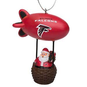 Atlanta Falcons Christmas Tree Holiday Ornament New - Team Logo Santa Blimp