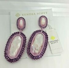 Kendra Scott Kaki Statement Dangle & Drop Earrings Lilac Pearl Purple