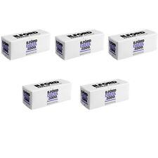 5 Rolls Ilford Delta 3200 Professional 120 Black & White Negative Print Film