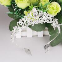 Princess Crystal Prom Hair Tiara Wedding Bridal w/ Comb Pin Crown Veil Headband