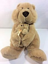"vintage 1992 COMMONWEALTH 15"" Big Bear Hugging Plush Rattles Inside Soft Cuddly"