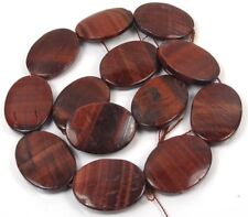 "30x20mm Natural Red Tiger Eye Oval Beads 16""  SALE!!!"
