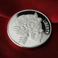 1 Gram .999 Fine Silver Fractional Bullion Round -Skull Queen Design
