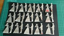 Die cut bride & groom silver ,wedding, Aniversary,  invatations  ,toppers,