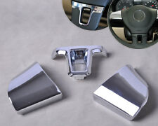 Chrome Steering Wheel Cover Trim fit for VW Lavida 2011 2012