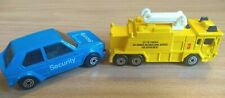 Lot of 2 Maisto Vehicles, Airport Crash Tender Fire Truck, VW Golf GTI Security