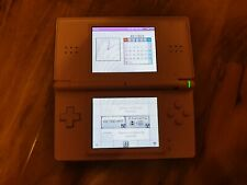 Nintendo DS Lite console pink faulty broken hinge but works spares parts repairs