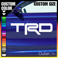 TRD LOGO VINYL DECAL - Toyota Race Car Truck Track Custom Vehicle Sticker Label