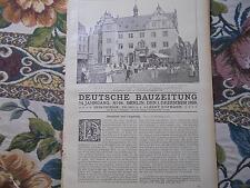 1920 Bauzeitung 96 / Darmstadt Michelstadt Zwingenburg