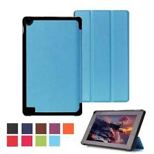 "For Tablet 2015 7"" Amazon Kindle Fire Hd 7 Fold Leather Stand Cover Case Blue MT"