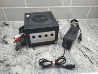 Nintendo GameCube Jet Black Console with Official OEM AV, Power