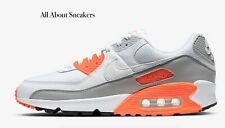 """Nike Air Max 90 """"White/Hyper Orange/Ligh"""" Men's Trainers Limited Stock All Sizes"""