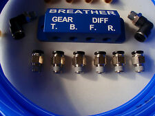 DIFF BREATHER KIT - 4 point - with CNC Billet Anodised Block!
