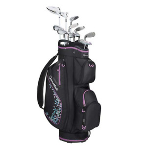 TaylorMade Kalea Ladies Package Set with BlackViolet Cart Bag (Right Hand,Driver