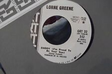 45? RARE GRT PROMO* LORNE GREEN BEN CARTWRIGHT DADDY / I LOVE A RAINBOW