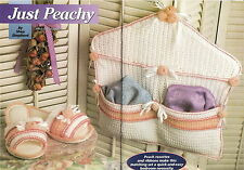 JUST PEACHY Bedroom Set/Apparel/ Crochet Pattern INSTRUCTIONS ONLY